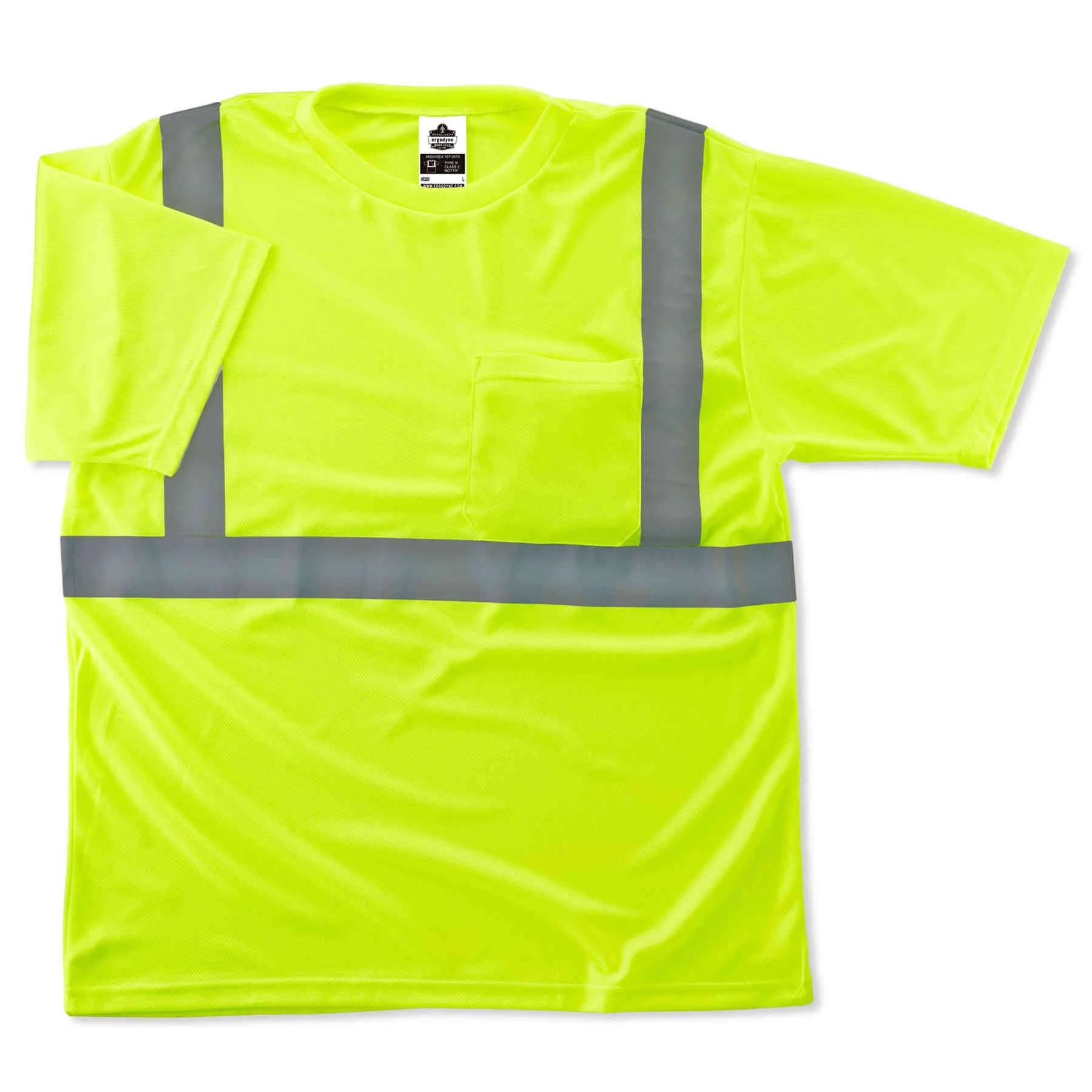 Ergodyne GloWear® 8289 Type R Class 2 T-Shirt, Lime, XS