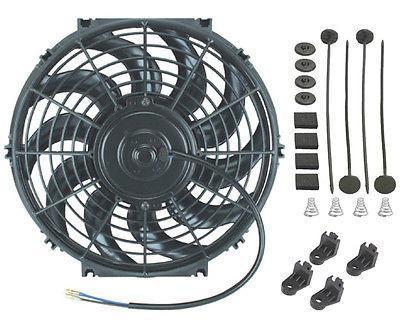 12 inch electric 12v radiator condenser cooling fan 90w 2000 cfm