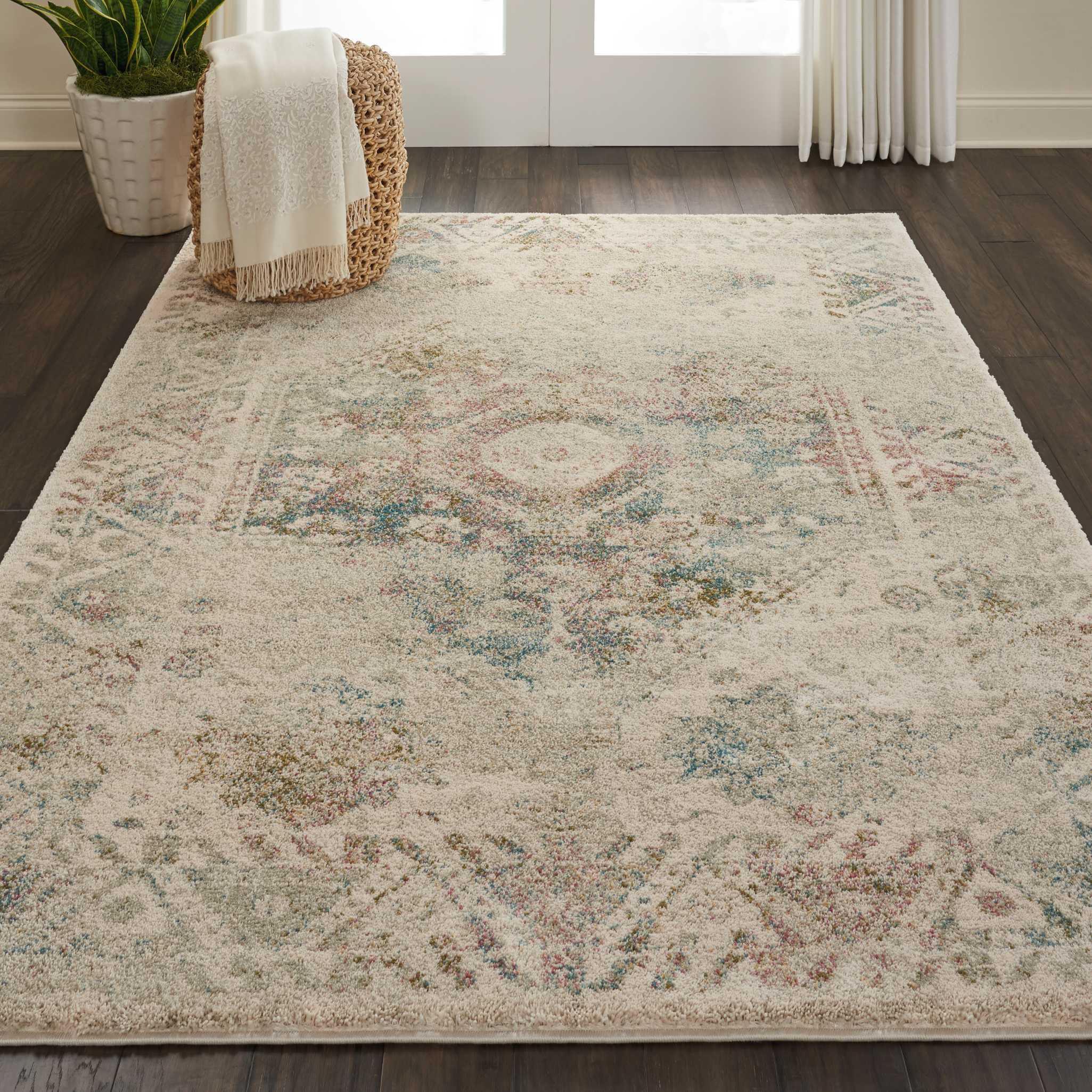 nourison fusion farmhouse bordered cream area rug on farmhouse colors for bath mats walmart id=87539