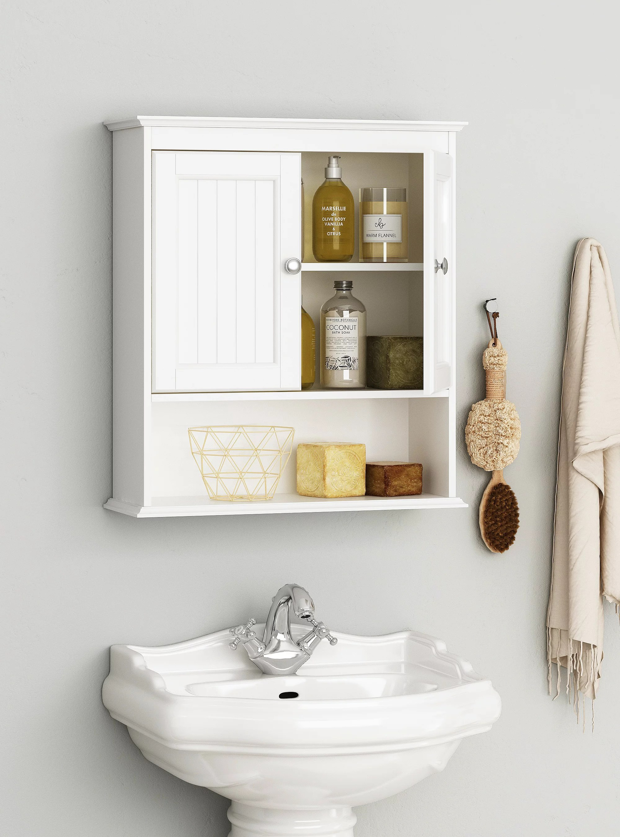 Spirich Home Bathroom Cabinet Wall Mounted With Doors Wood Hanging Cabinet Wall Cabinets With Doors And Shelves Over The Toilet Bathroom Wall Cabinet White Walmart Com Walmart Com