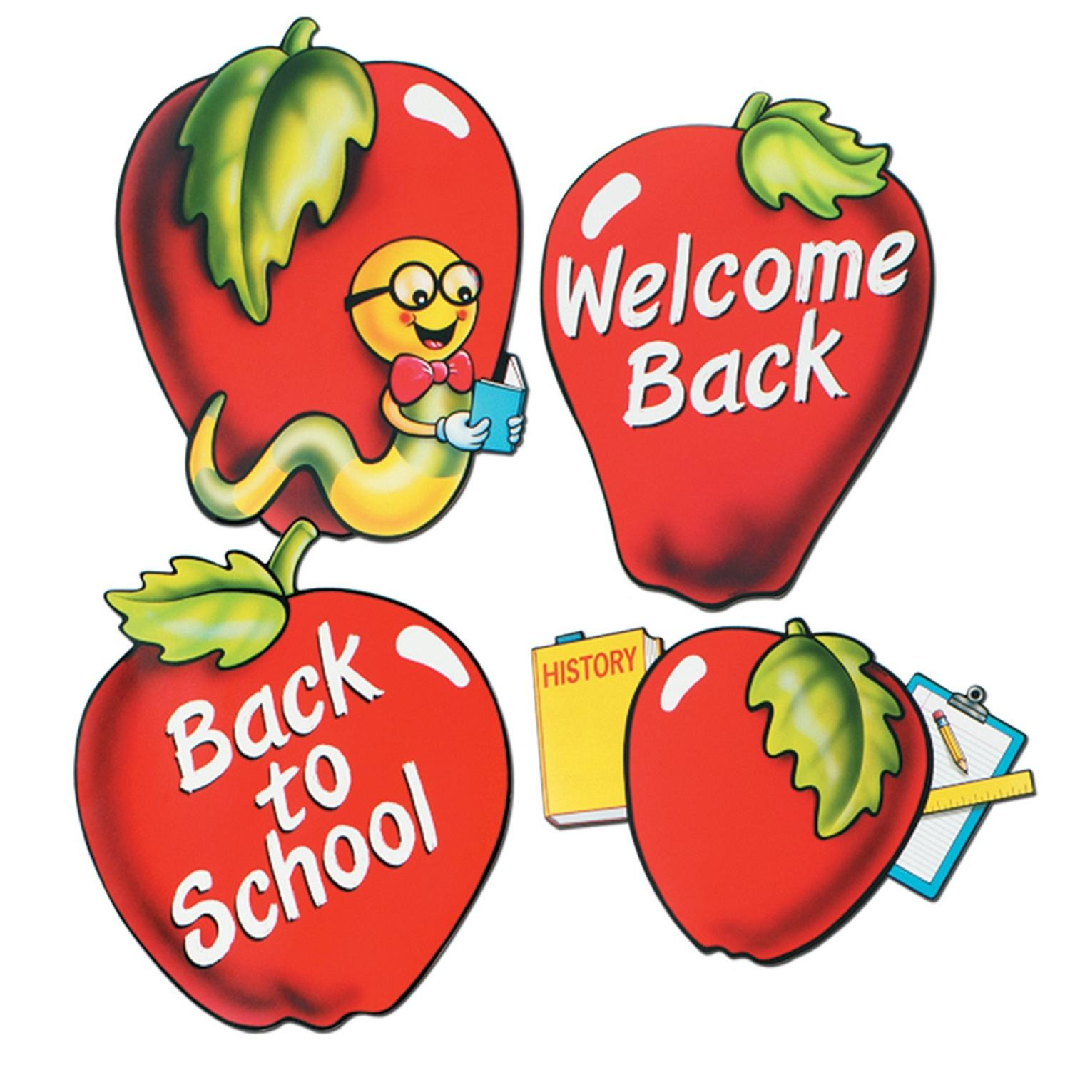 Club Pack Of 48 Back To School Themed Red Apple Cutout