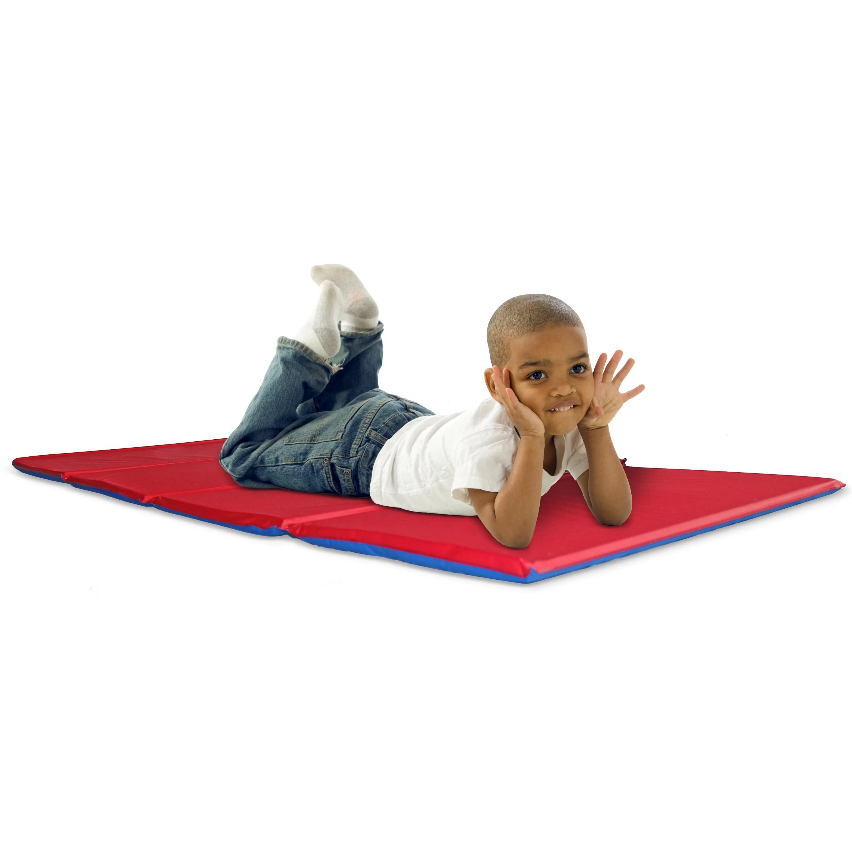 kindermat 1 thick basic rest mat red blue 1 x 19 x 45 walmart com