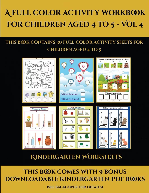 Kindergarten Worksheets A Full Color Activity Workbook