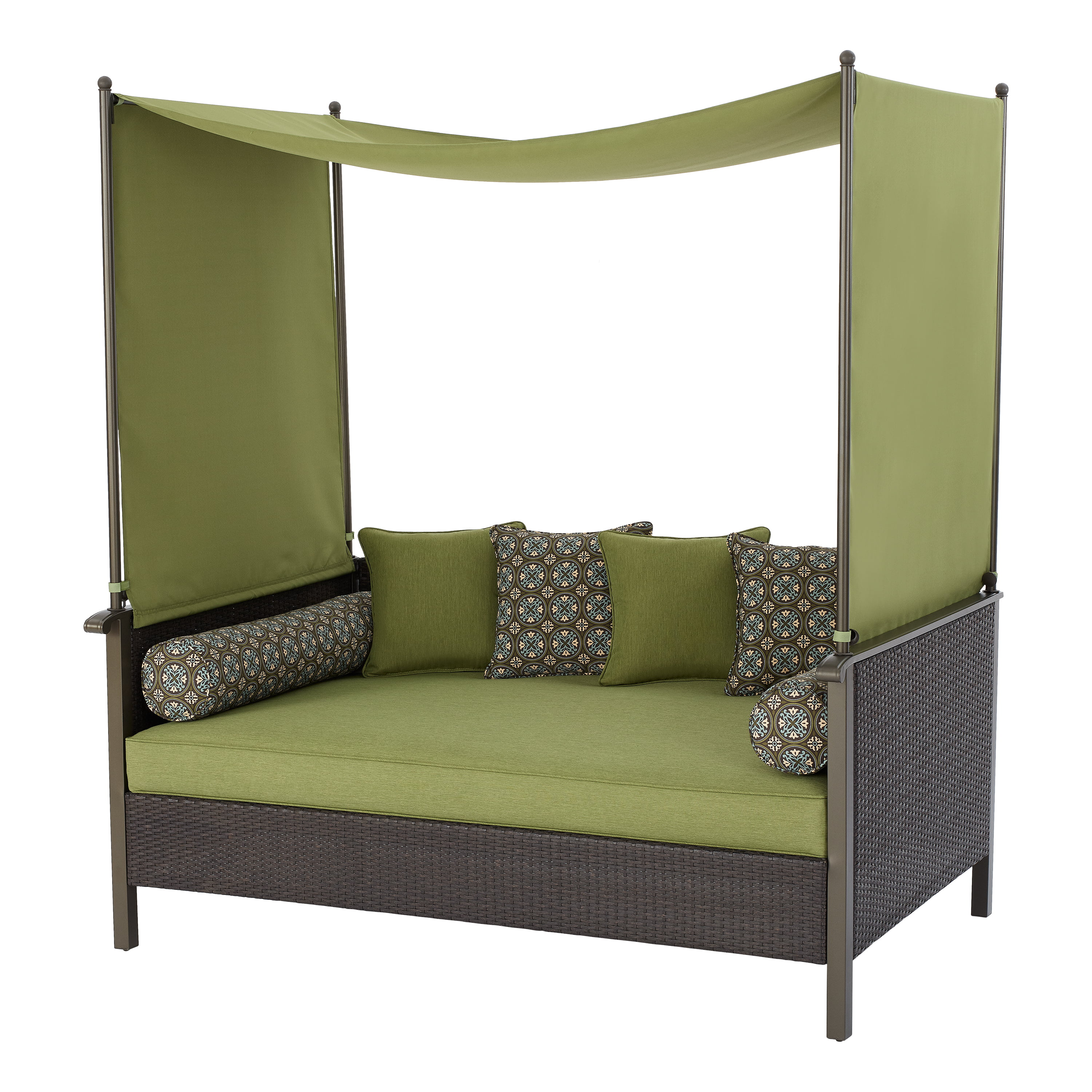 better homes gardens providence outdoor daybed with canopy green walmart com