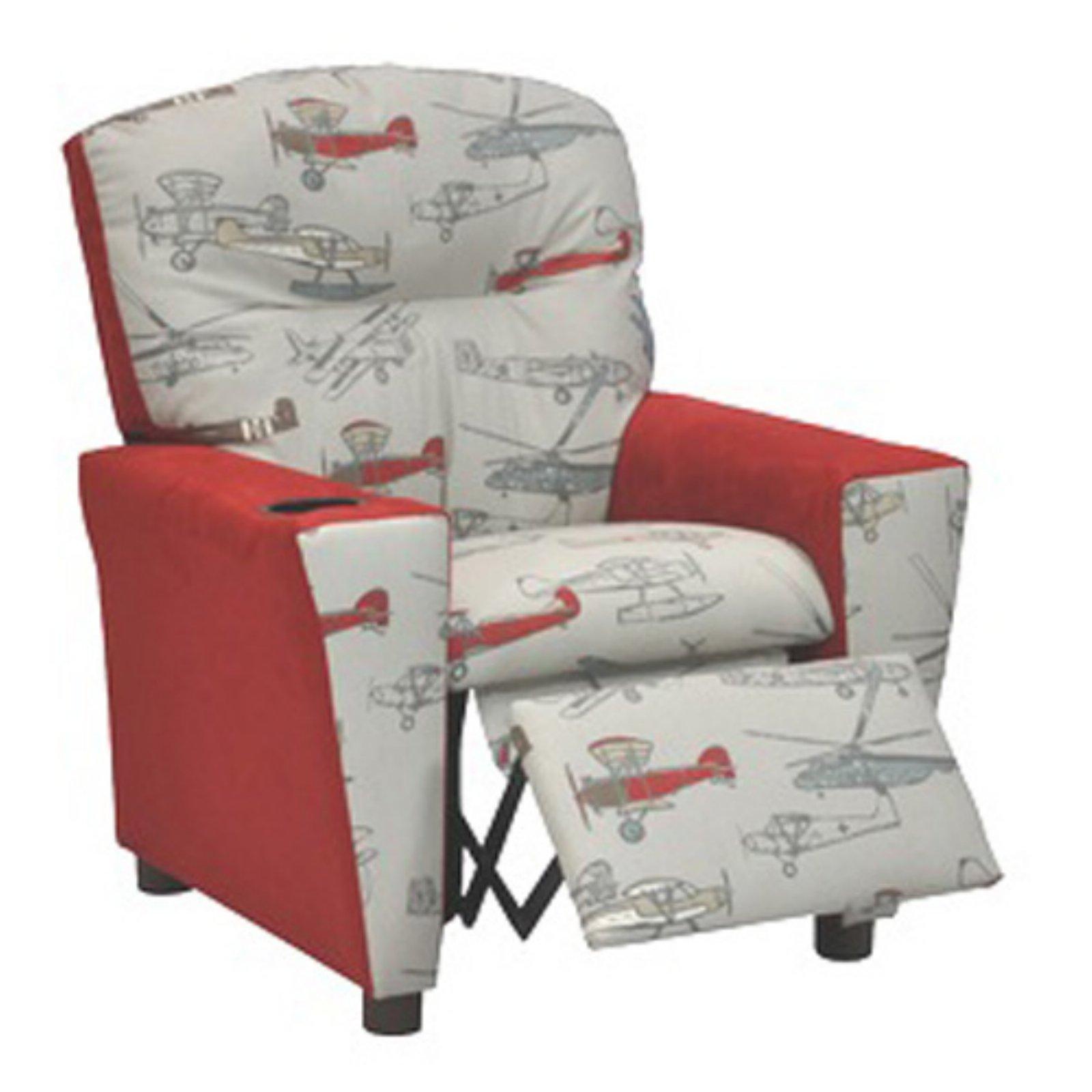 kidz world vintage airplanes kids recliner walmart com