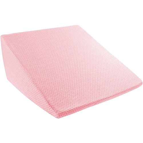extra high wedge pillow memory foam pillow with bamboo fiber cover great for acid reflux snoring back pain and better sleep by lavish home pink