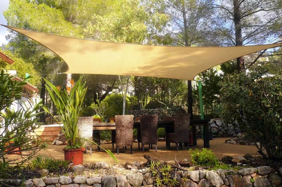 quictent 185g hdpe 98 uv blocked 24x24 ft square sun sail shade canopy top outdoor cover patio garden sand