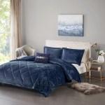 Home Essence Apartment Alyssa Velvet Comforter Set Walmart Com Walmart Com
