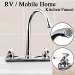 Double Switch Dual Holes Bathroom Hot Cold Water Mixer Tap Kitchen Sink Faucet For Rv Mobile Home Kitchen Bathroom Walmart Canada