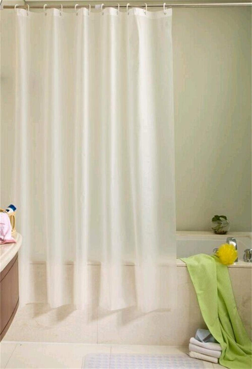 ufelicity 48 inch by 72 inch home decor pvc free vinyl shower curtain liner water resistant and mildew proof w