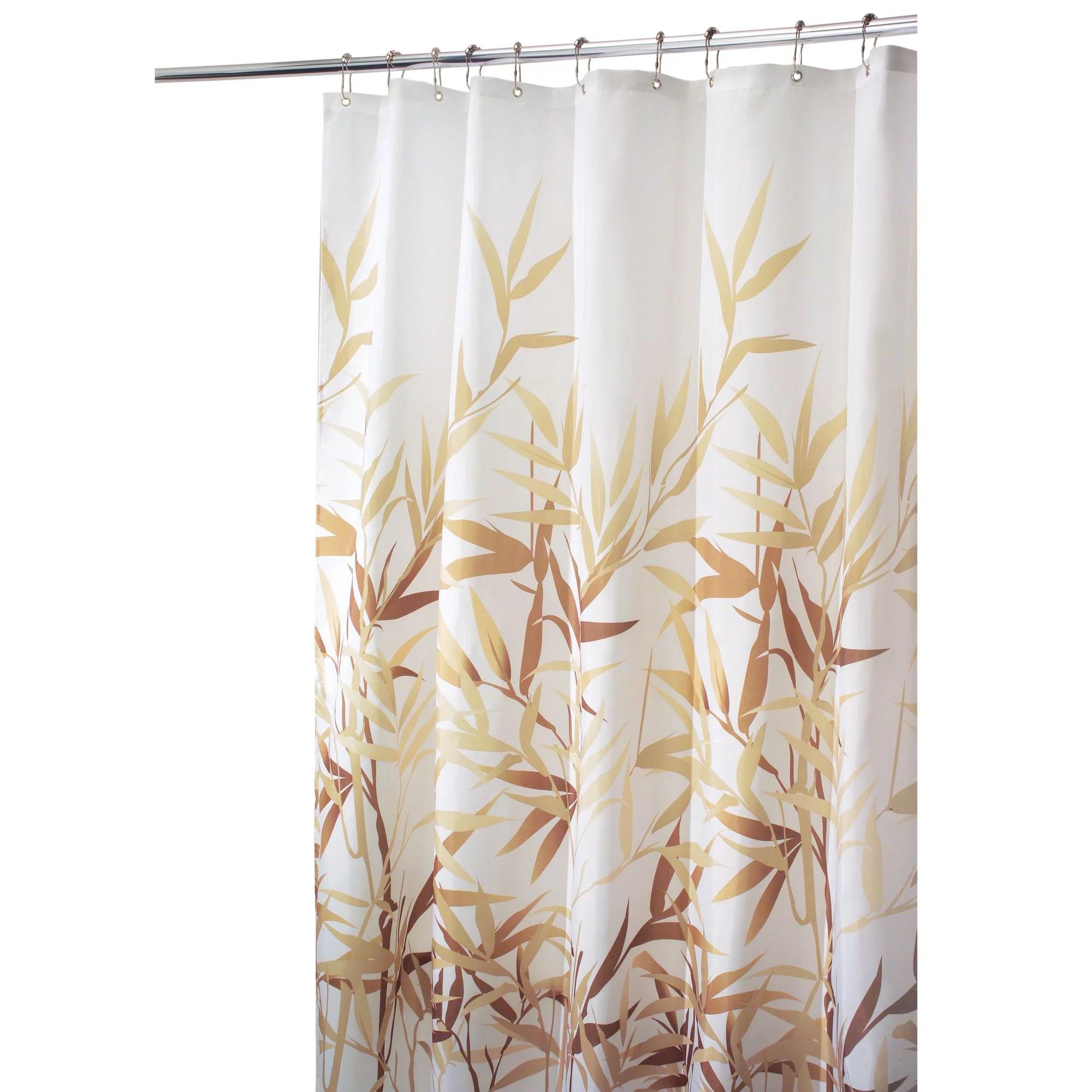 interdesign anzu fabric shower curtain long 72 x 84 brown walmart com