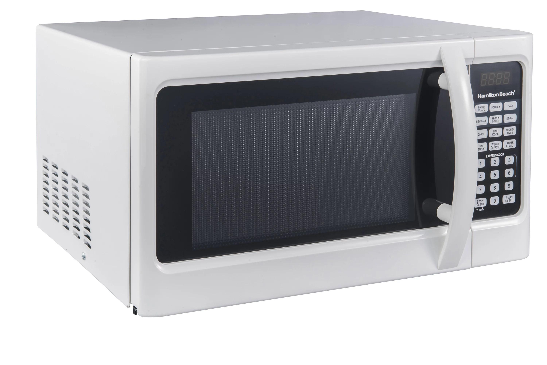 hamilton beach 1 1 cu ft digital white microwave oven