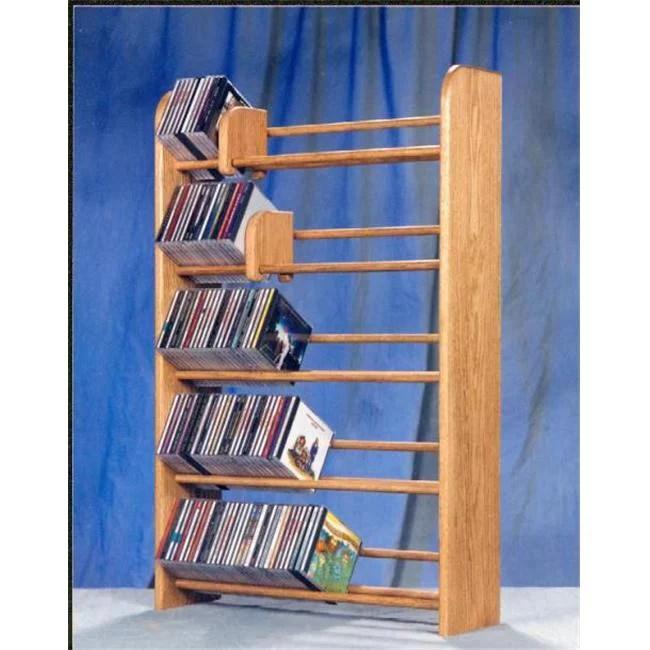 wood shed 501 solid oak 5 row dowel cd rack