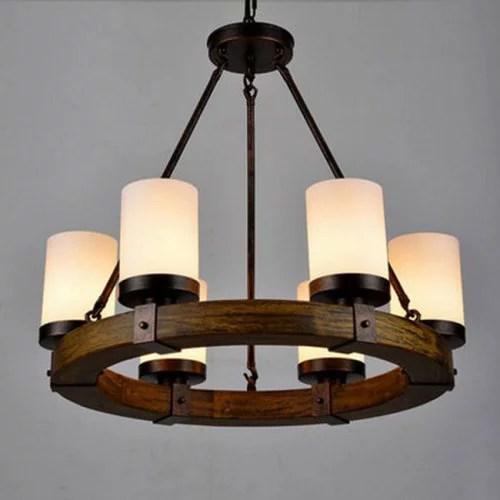 Rustic Wood Pendant Light