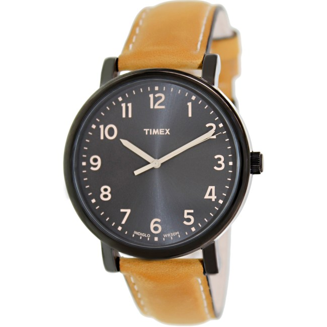 Timex Men's Originals T2N677 Black Leather Japanese Quartz Fashion Watch