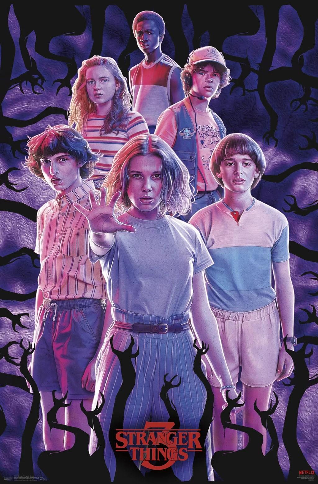 stranger things 3 group poster