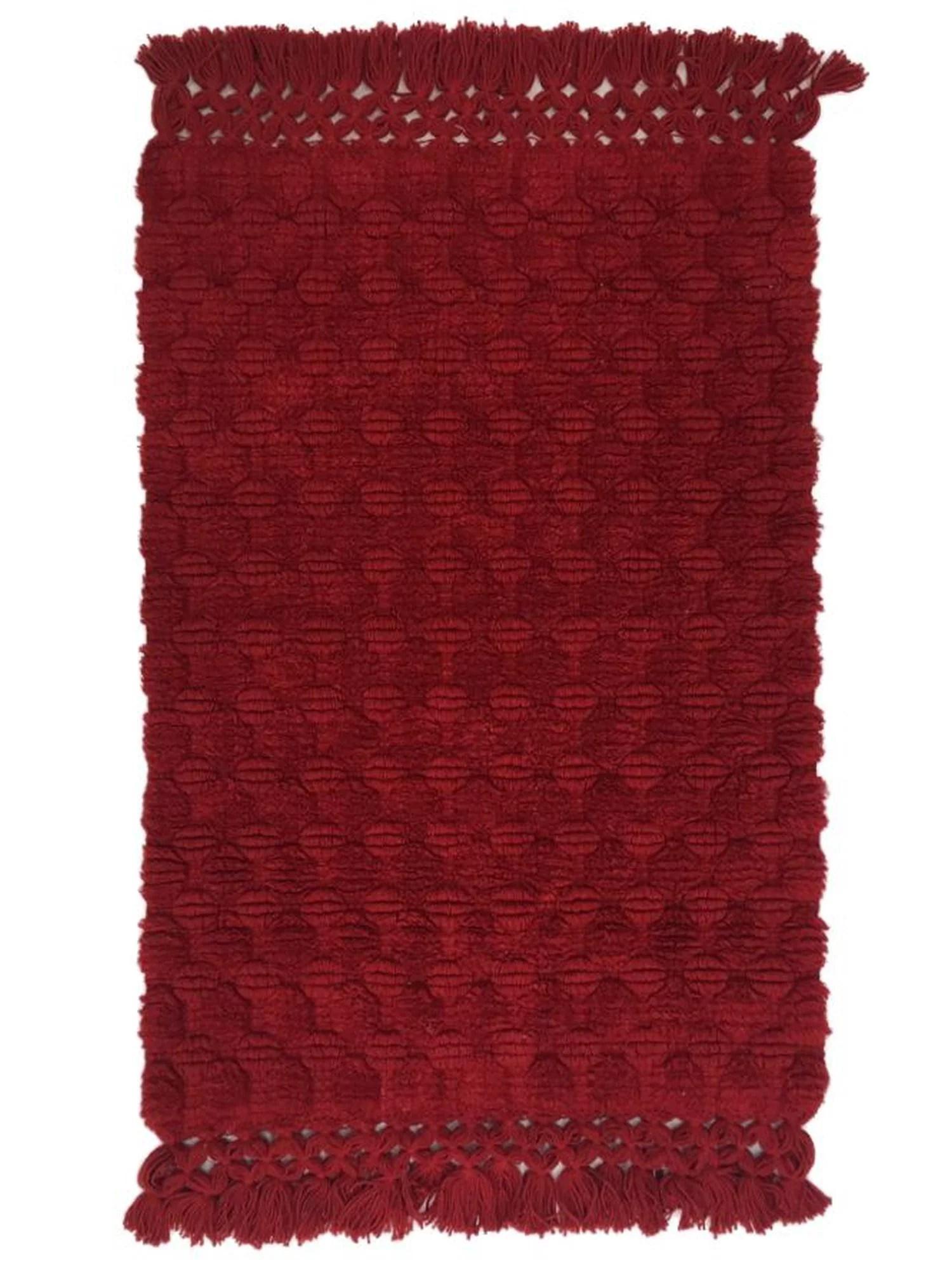 st nicholas square rich farmhouse red tufted bath rug on farmhouse colors for bath mats walmart id=11428