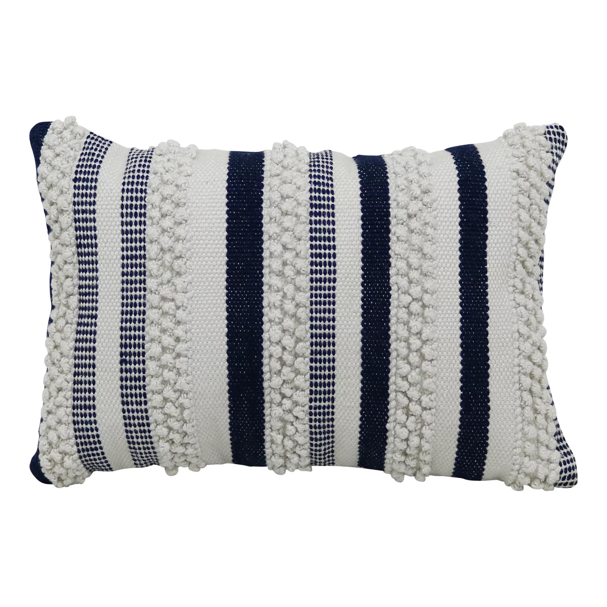 better homes gardens 13 x 19 outdoor toss pillow blue woven