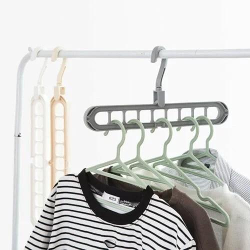 Magic Plastic Hanger Wardrobe Closet Bar Clothes Coat ... on Closet Space Savers Walmart  id=16532