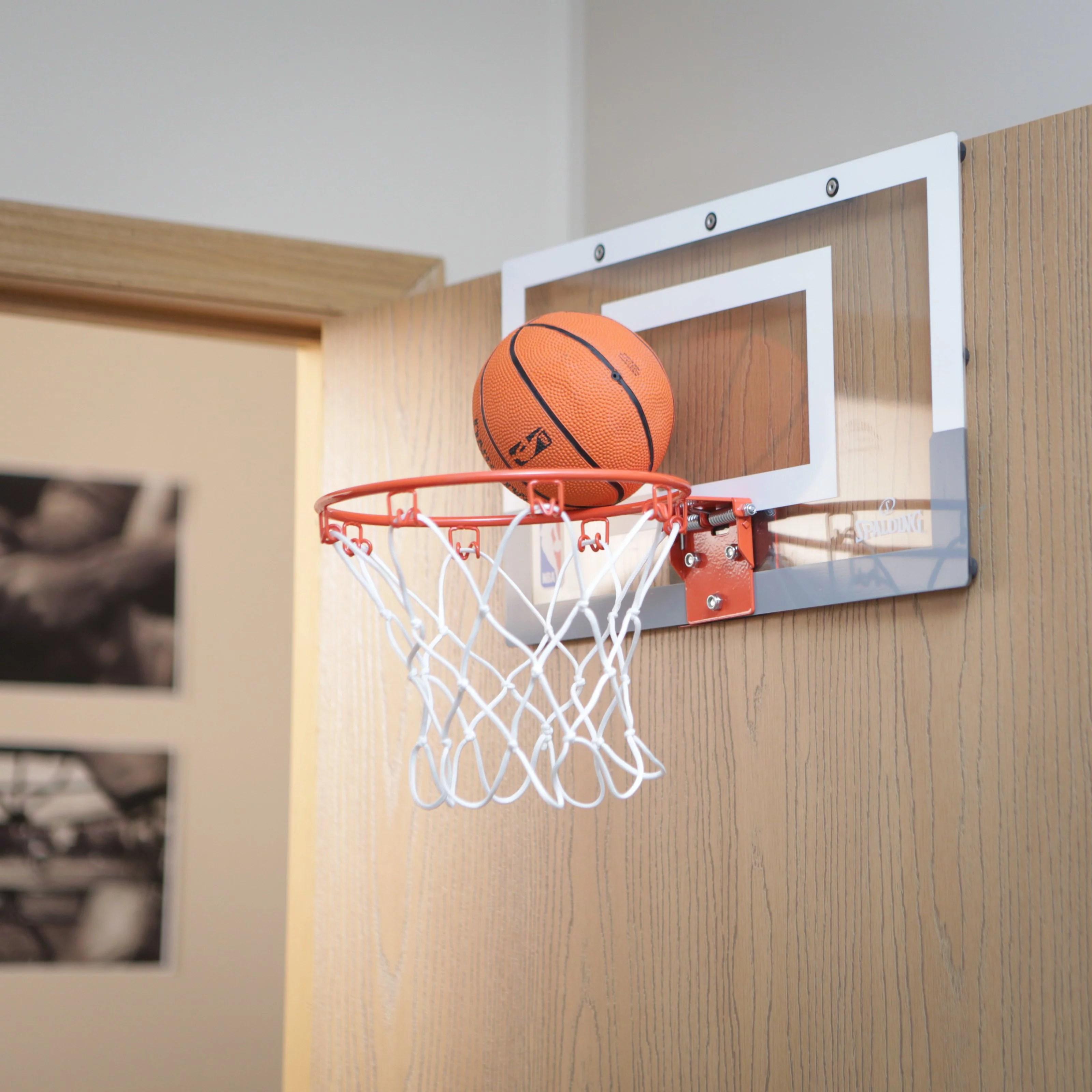 spalding nba slam jam over-the-door mini hoop with mini basketball