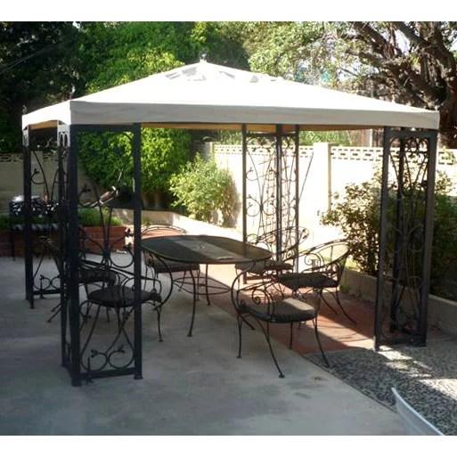 garden winds replacement canopy top for costco s fleur de lis gazebo