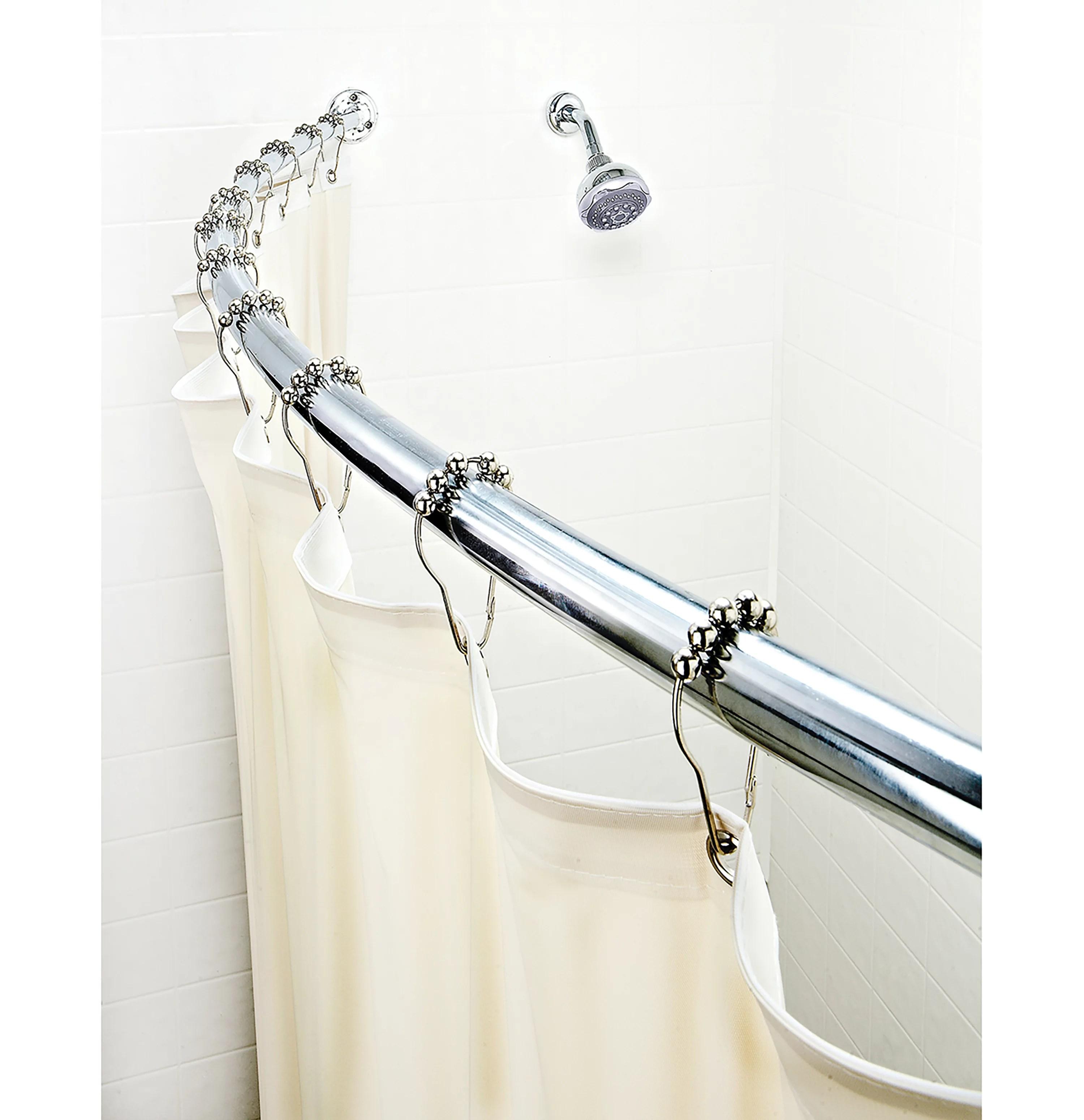 bath bliss curved chrome shower rod