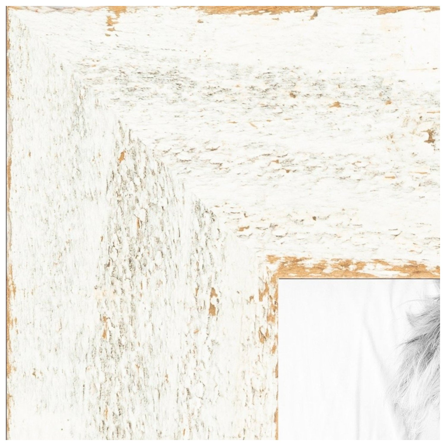 arttoframes 12x14 inch real reclaimed white barnwood 1 5 inch picture frame this white wood poster frame is great for your art or photos comes with