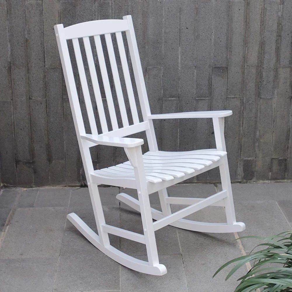 willow bay outdoor rocking chair white