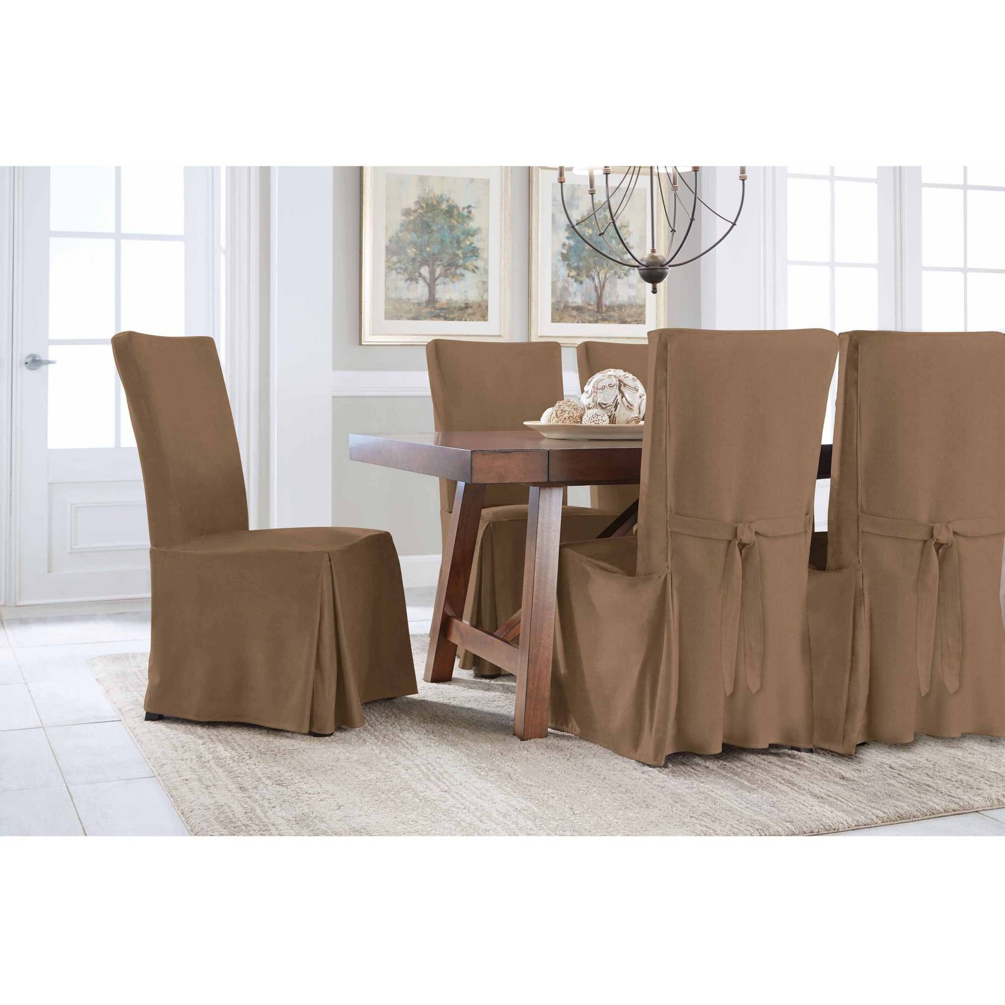 Serta Relaxed Fit Smooth Suede Furniture Slipcover 2 Pack