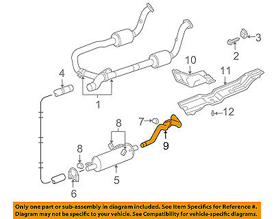 dodge chrysler oem 04 05 ram 1500 5 7l v8 exhaust system tail pipe 55366751ae