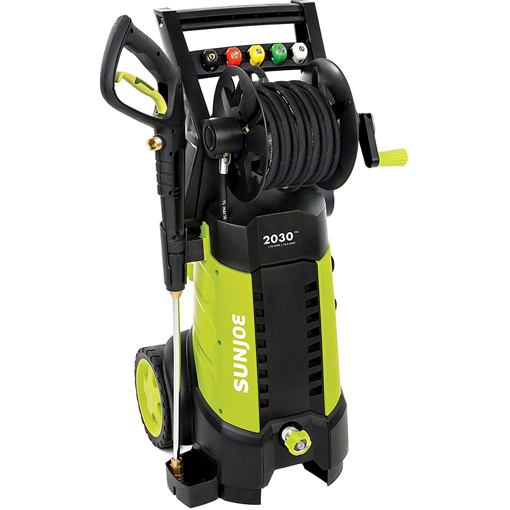 Sun Joe Spx3001 2030 Psi 1 76 Gpm Electric Pressure Washer Hose Reel All You Need Bundle With 25 Foot Outdoor Extension Cord And One Year Warranty Extension Walmart Com Walmart Com