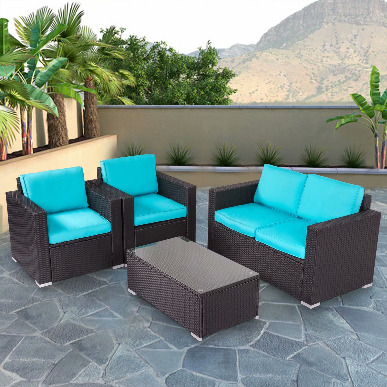 kinbor 4pcs outdoor patio furniture pe