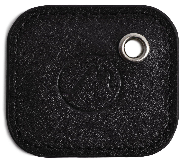tile mate case by metier life gen 2 tile phone and item finder vegan leather key fob cover elegant protection with included keyring black