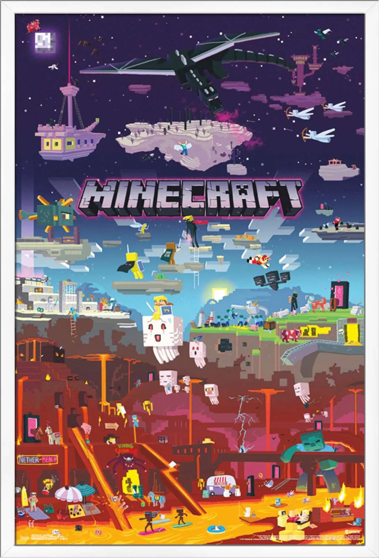 minecraft world beyond poster walmart com