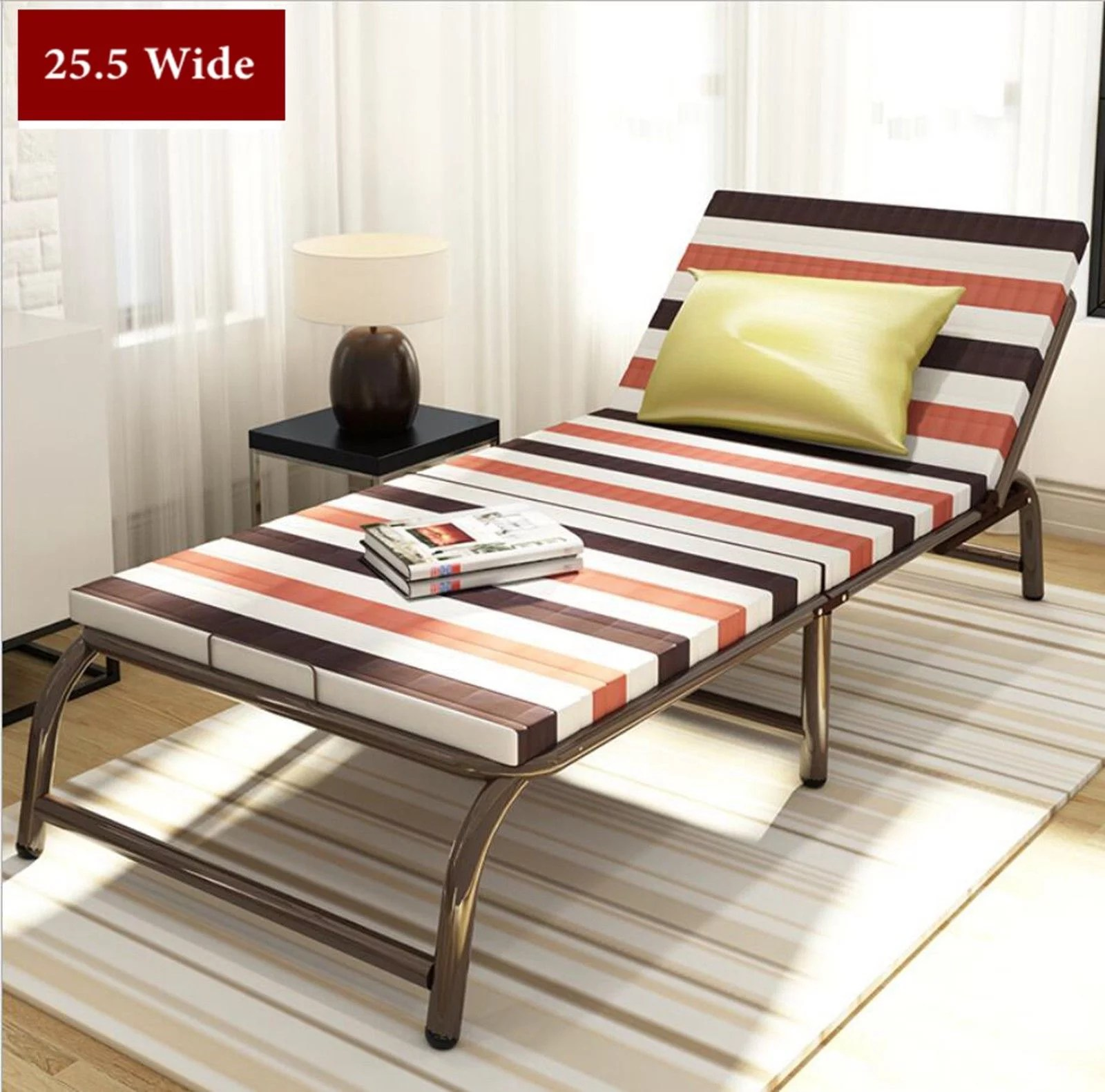 Portable Folding Bed With Frame Guest Bed Mattress Bedding