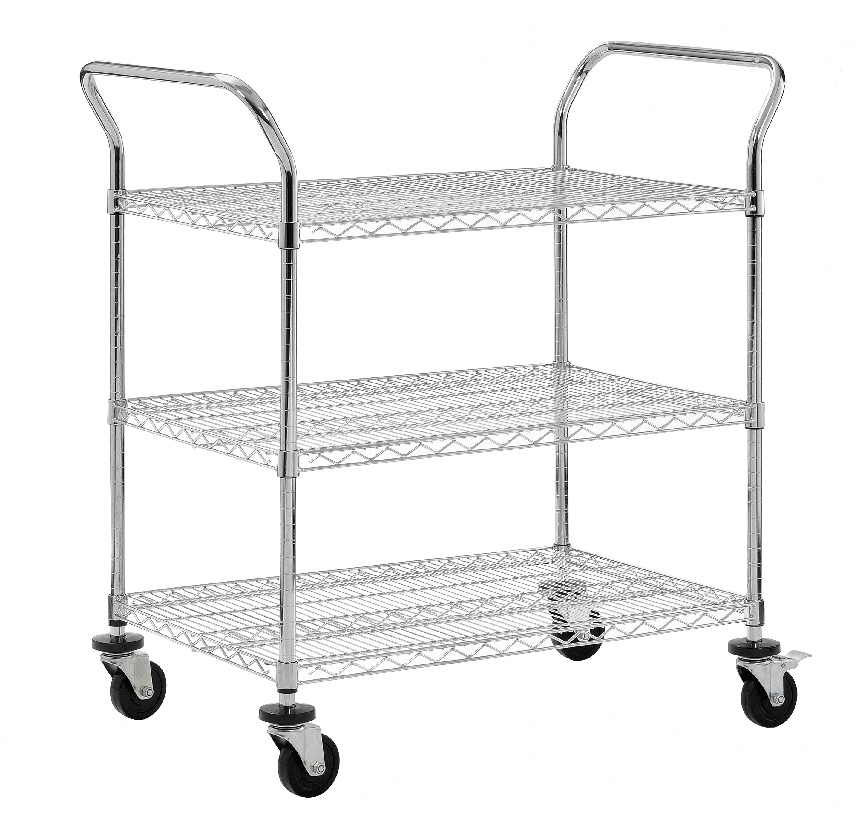 Sandusky 3 Tier 600 Lb Capacity Nsf Chrome Wire Cart