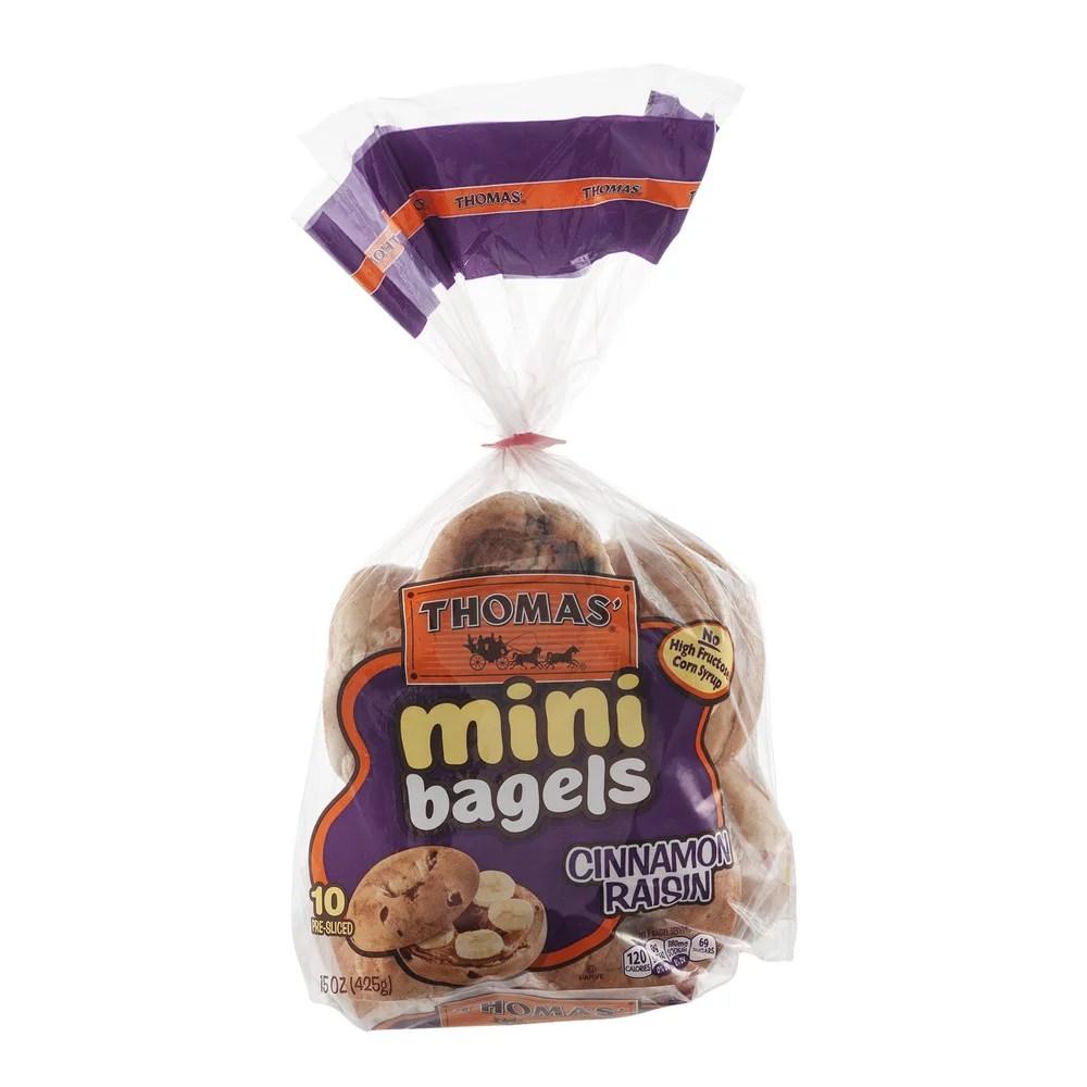 Thomas39 Mini Bagels Cinnamon Raisin 10 CT Walmartcom