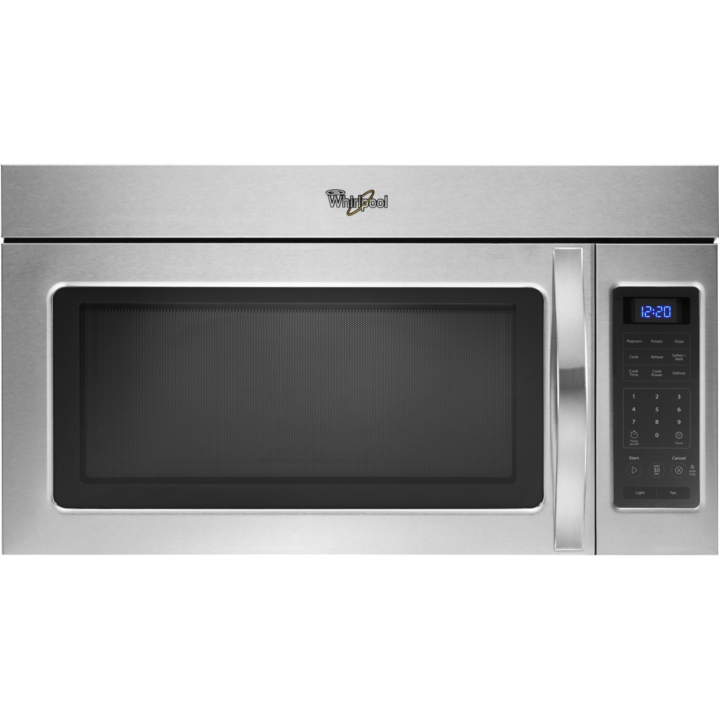 whirlpool wmh31017as 1 7 cu ft over the range microwave with 2 speed fan walmart com