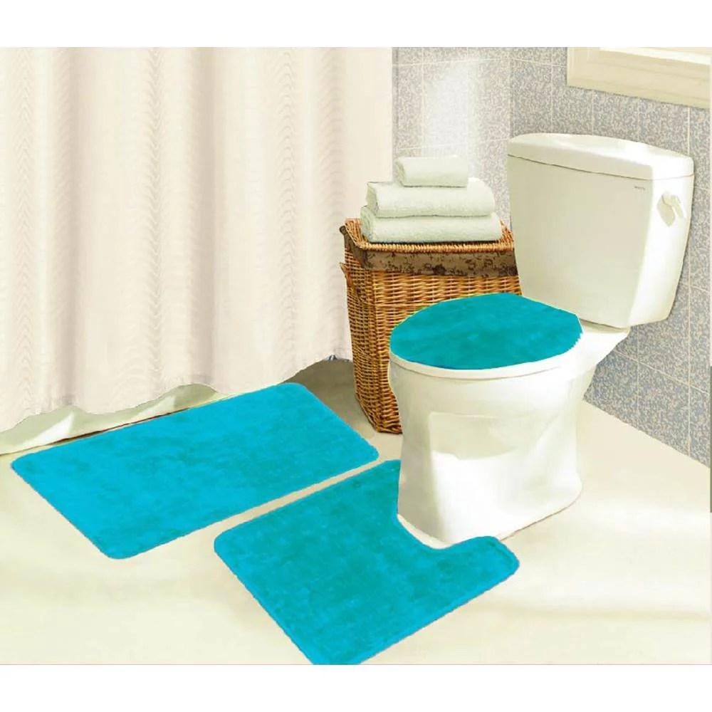 brandy 3 piece bathroom rug set bath mat contour seat on farmhouse colors for bath mats walmart id=89021
