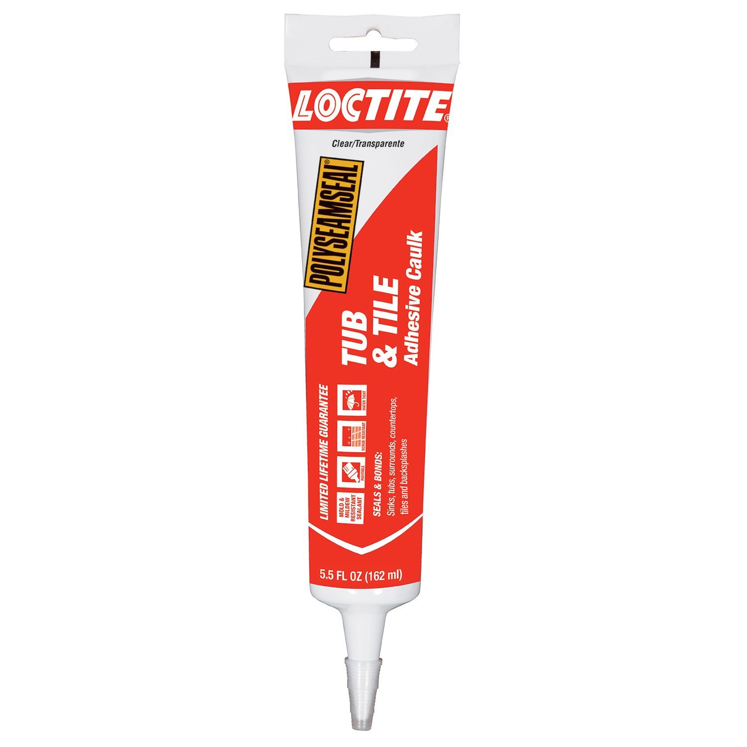 loctite polyseamseal clear tub and tile sealant 5 5 fluid ounce squeeze tube 2241871