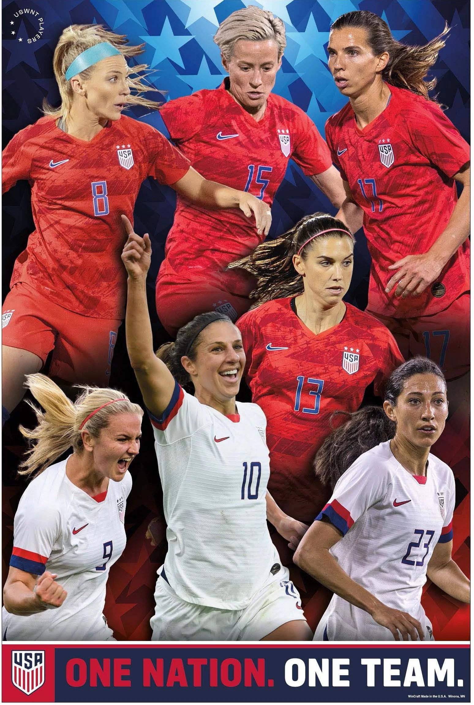us women s soccer team poster 2019 uswnt poster walmart com