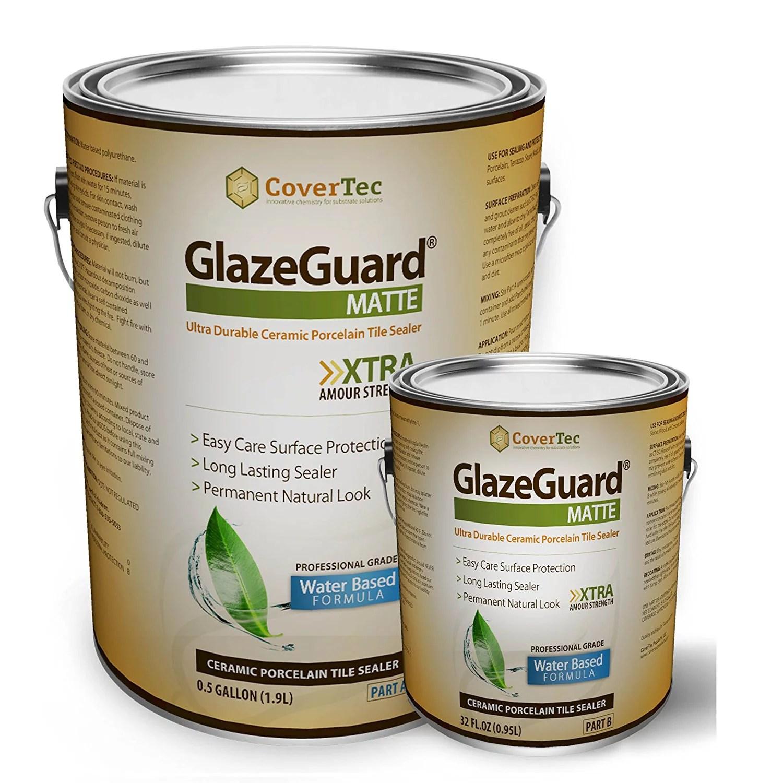 glazeguard matte sealer for ceramic porcelain stone tile floor wall surfaces 0 75 gal pro grade 2 part kit walmart com