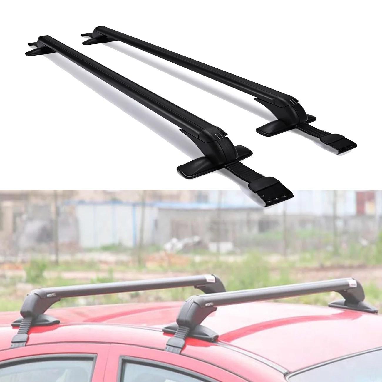beamnova 39 universal roof rack crossbar adjustable black aluminum car roof cargo carrier luggage rack top basket mountings
