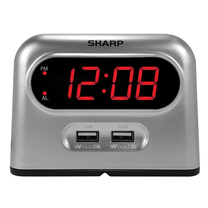 Sharp Digital Alarm Clock With 2 X
