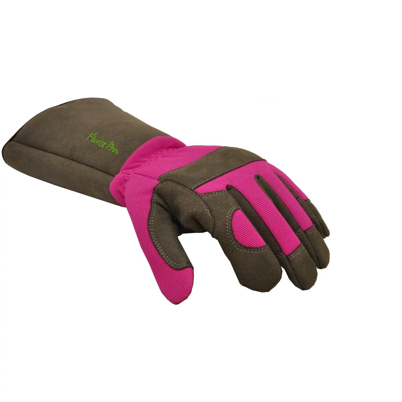 G & F Florist Pro Rose Gardening Gloves, Women's, Medium