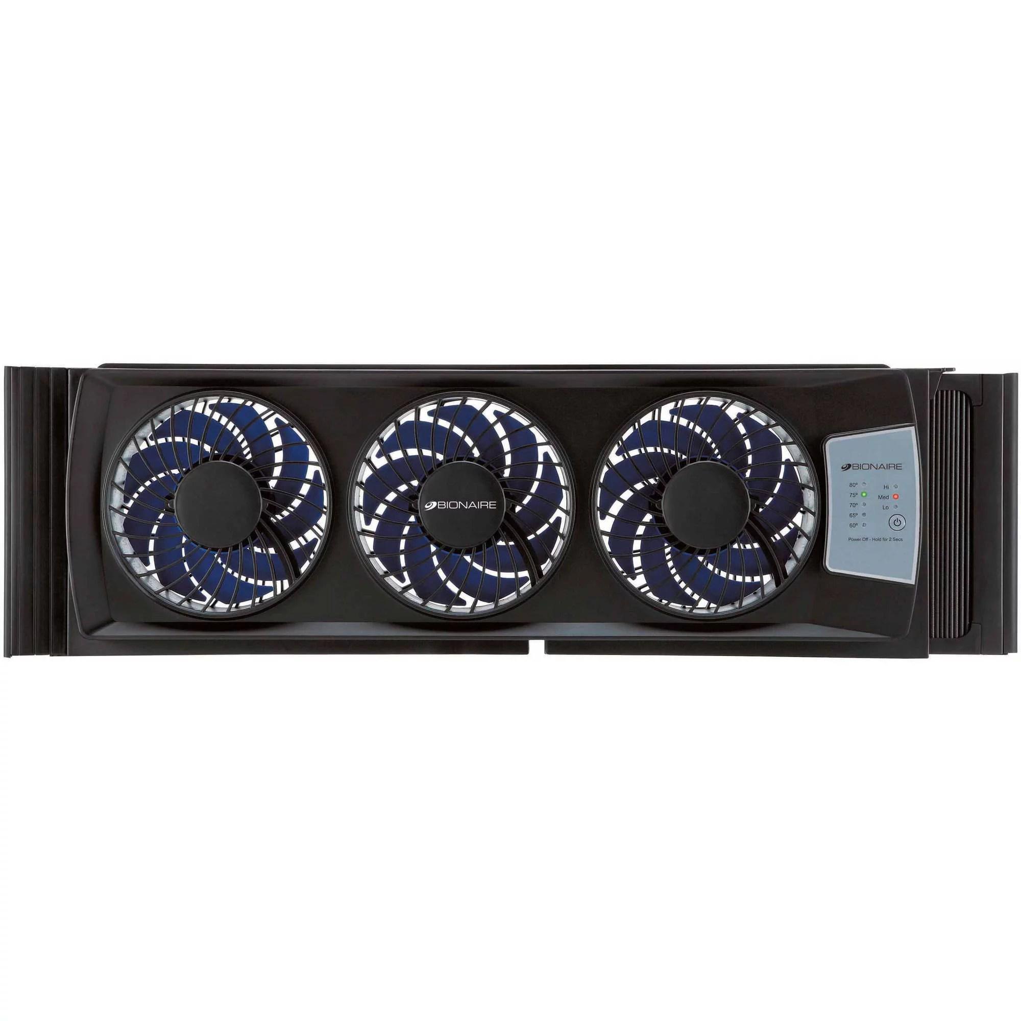 bionaire electric thin window fan black walmart com