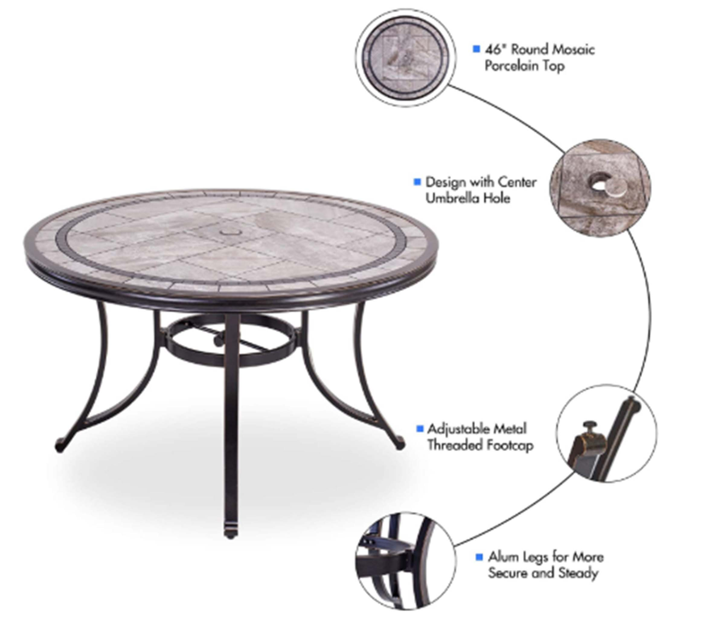 direct wicker single sale outdoor dining table contemporary round a tile top design with heavy duty frames 46 walmart com