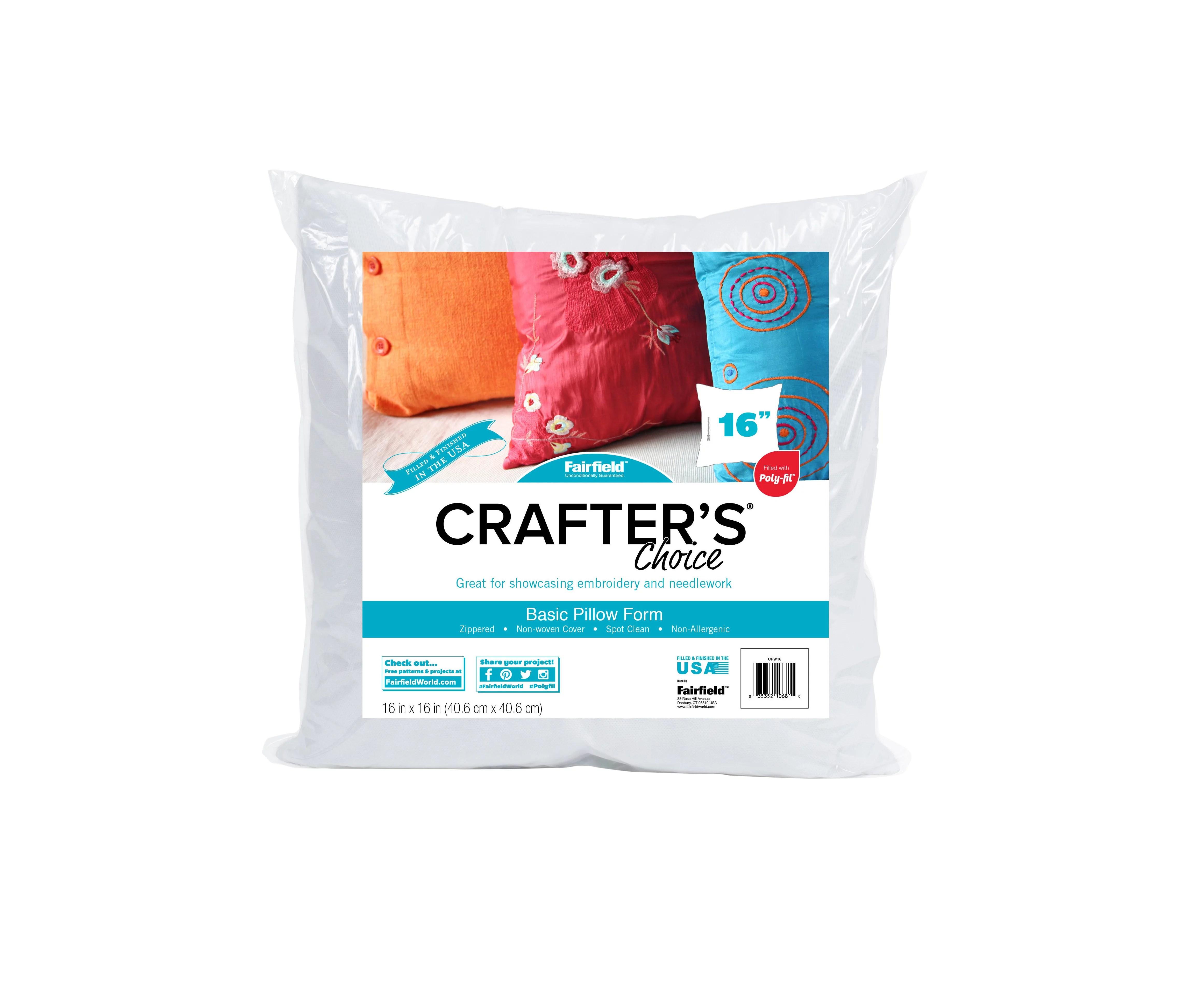 fairfield crafter s choice pillow insert 16 x16 1 each walmart com walmart com