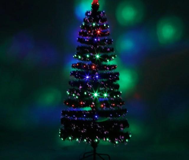 Holiday Festival Indoor Outdoor Festival Indoor Outdoor Led Fiber Optic Light Christmas Tree Decoration Walmart Com