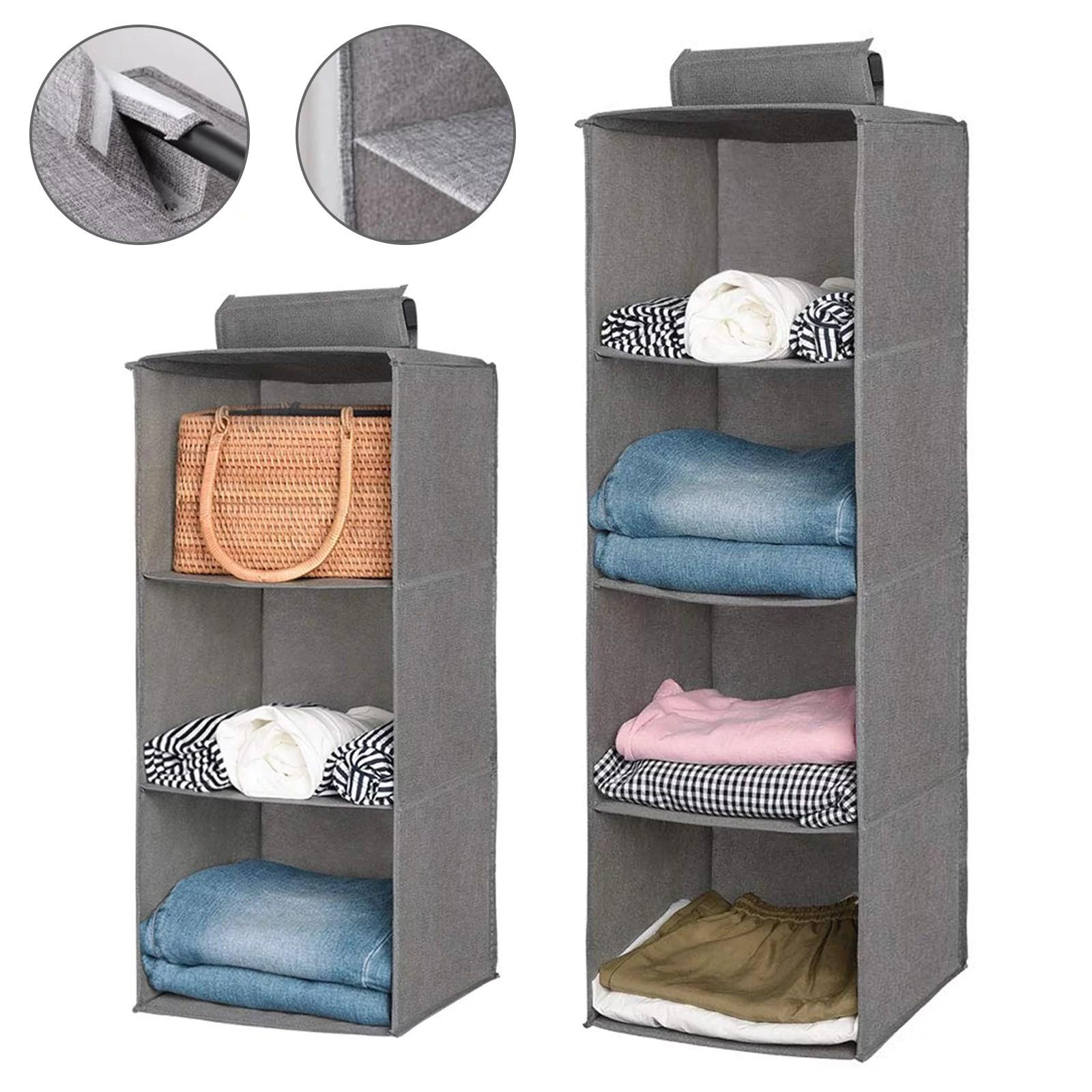 Foldable Hanging Closet Organizer   3/4 Shelf   Space ... on Closet Space Savers Walmart  id=81453